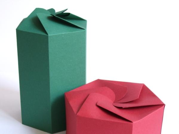 折り紙の 折り紙の織り方 : DIY Hexagonal Paper Boxes